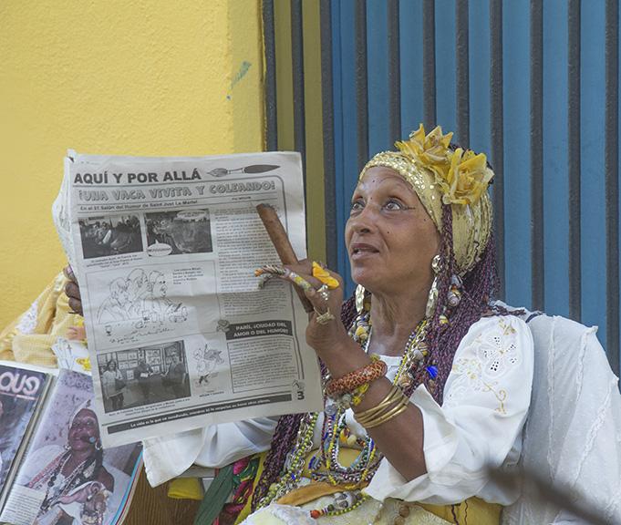DRESSED TO MAKE NEWS, HAVANA