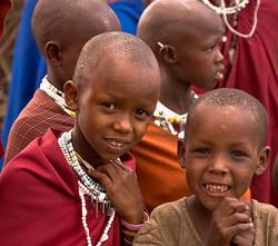 MASSAI TRIBAL CHILDREN, AFRICA