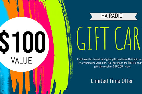 $100 HaiRadio Gift Card (Digital)