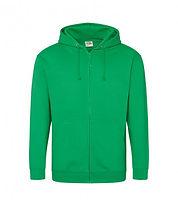 leavers zipped hoodie kelly green.jpg