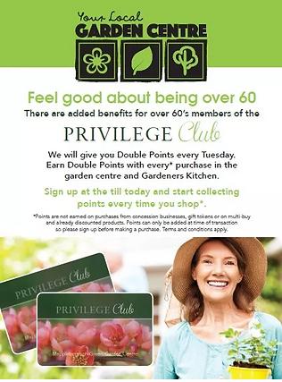 Over 60's Privilege Club Information