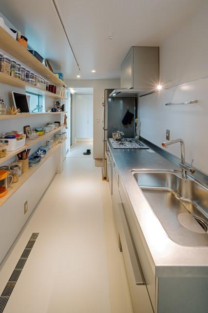 2WAYの回遊性のあるキッチン
