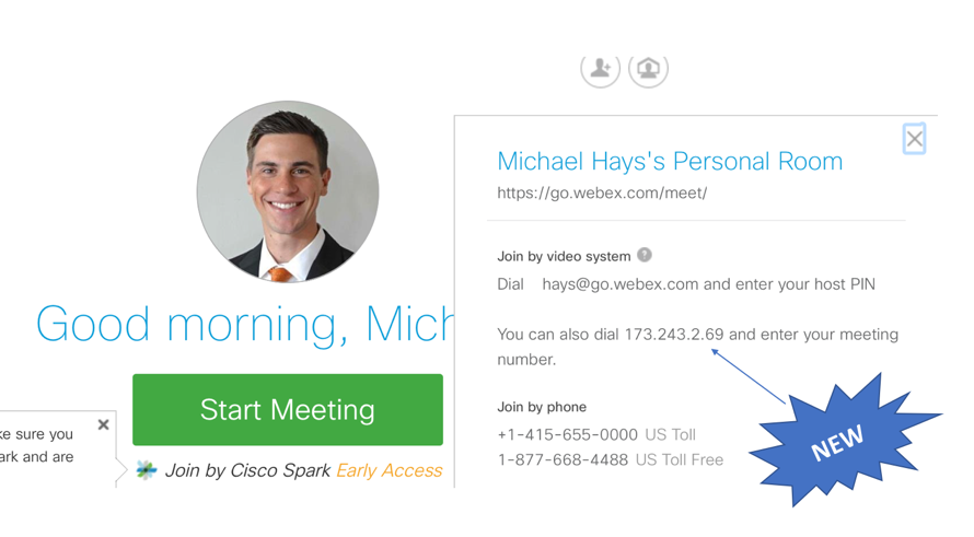 IP Address Dialing with WebEx