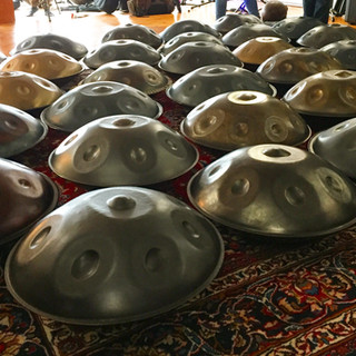 There are a few Tactas in this sea of handpans... - Panada, 2017