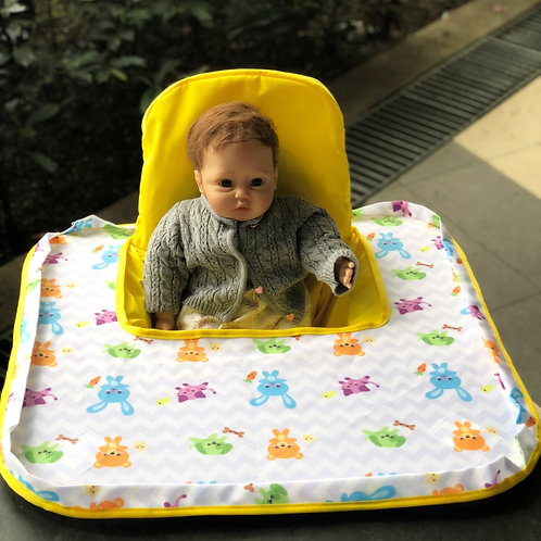 Poppy Seat Cover - Yellow Animal High Chair Cover PSC00YANI03