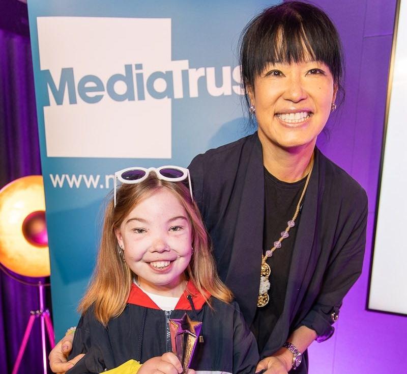 Bella with Media Trust CEO, Su-Mei T