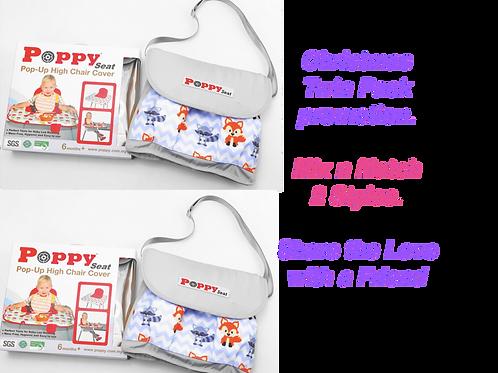 Poppy Seat Twin Pack - Two Grey Fox