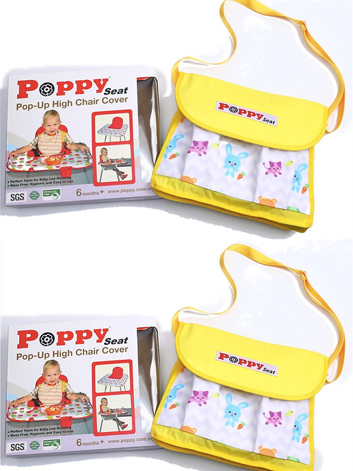 Poppy Seat Twin Pack - Two Yellow Animal