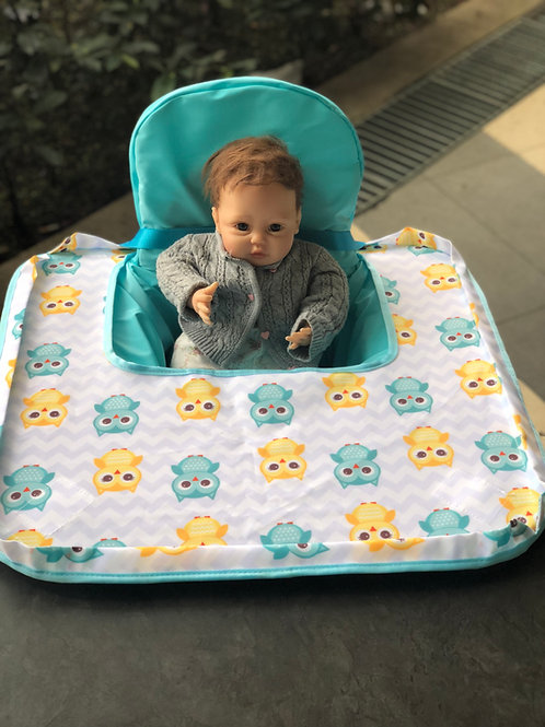Poppy Seat Cover - Blue Owl High Chair Cover PSC00BOWL01