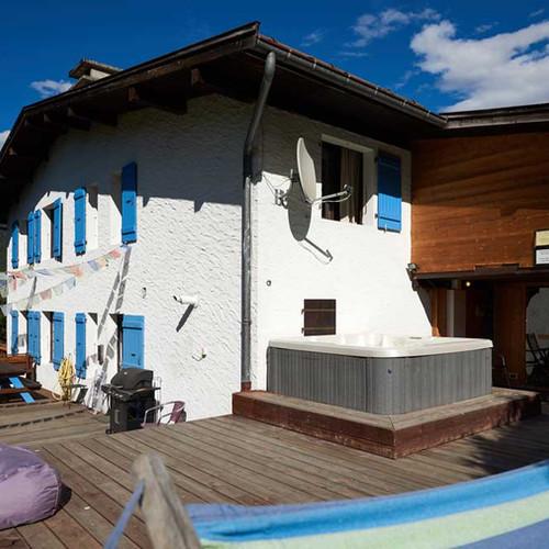 Hottub and Sauna at Chamonix Lodge