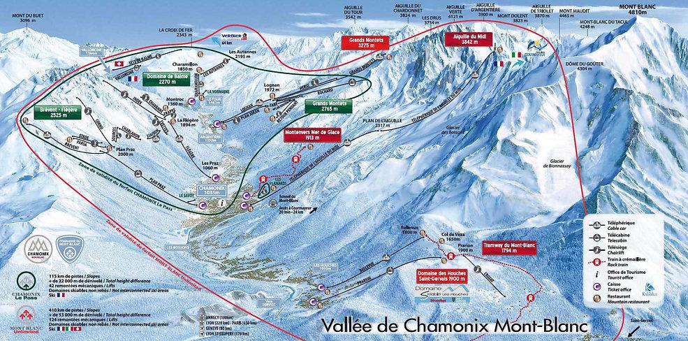 Chamonix Mont Blanc Piste Map