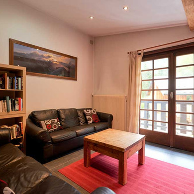 Upstairs Living Room at Chamonix Lodge