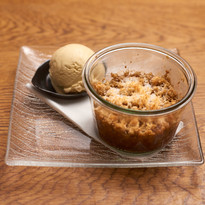 Pear, Ginger and Coconut Crumble