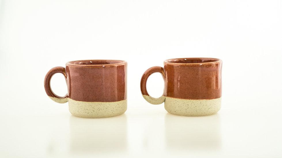 Set 2x Cappucino Ceramic Cups