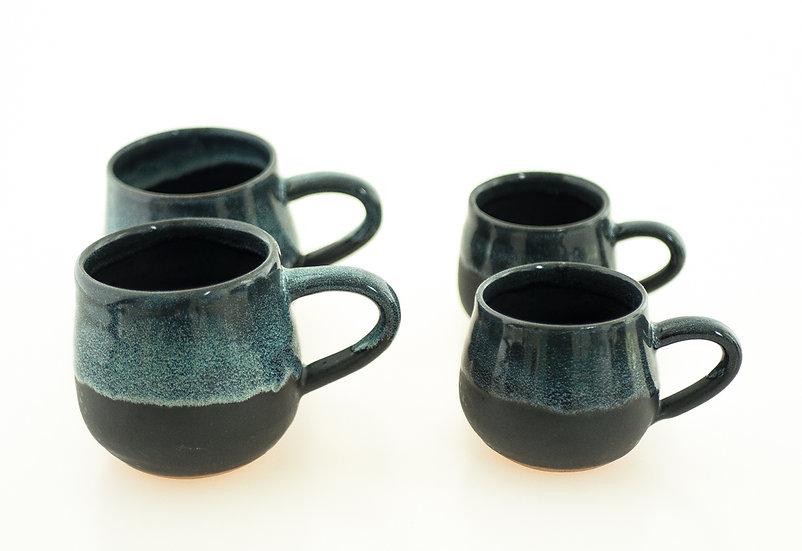 Set 2x Cappucino & 2x Espresso Ceramic Cups