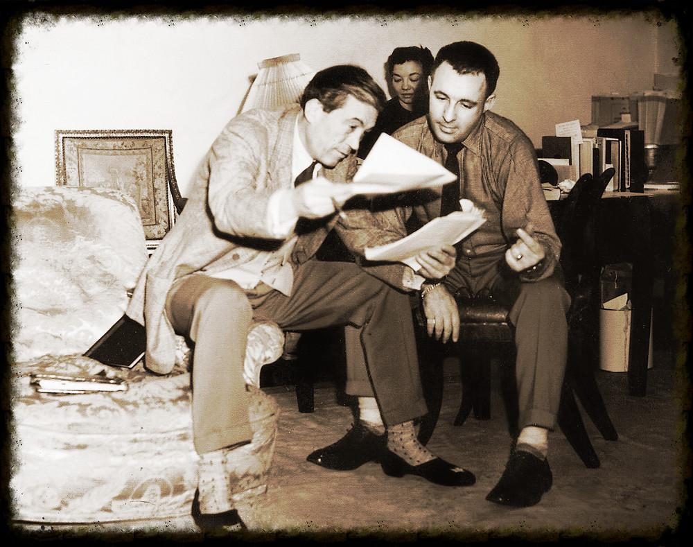Bradbury y John Houston
