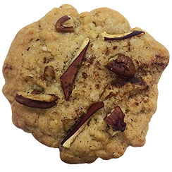 Cookie baked in Berlin with Oats, Apples, Pecans, and Cinnamon