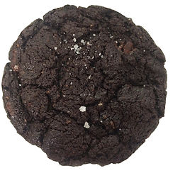 Cookie baked in Berlin with loads of dark chocolate and a sprinlking of sea salt