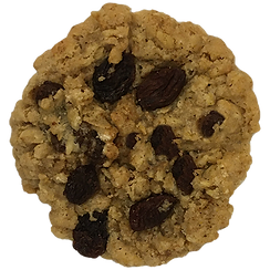 cookie baked in berlin with oatmeal, raisins and a little cinnamon