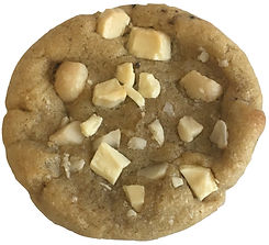 Cookie baked in Berlin with white chocolate and macademia nuts