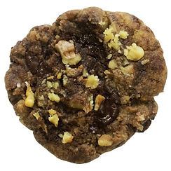 Cookie baked in Berlin with roasted walnuts, chocolate, and finished with a pinch of sea salt