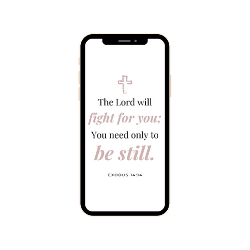The Lord will fight for you - Exodus 14:14 iPhone Wallpaper
