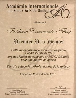 Premier prix VOTE DU PUBLIC -AIBAQ-