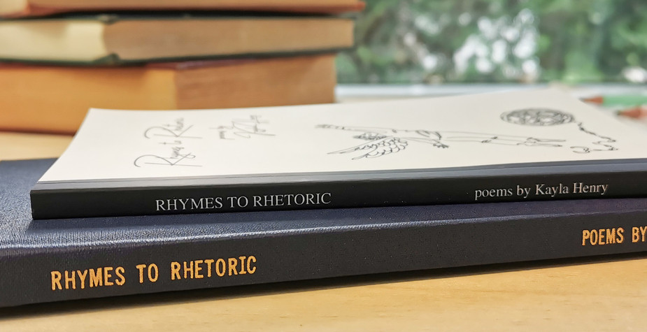 Spine: Rhymes to Rhetoric by Kayla Henry paperback and hardcover