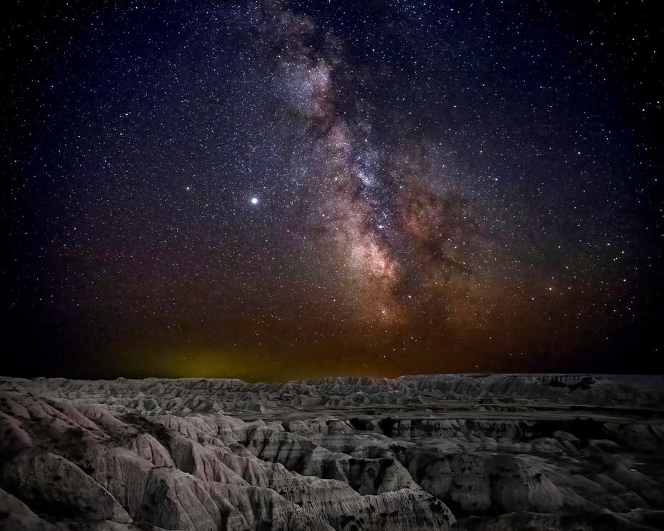 Milky Way over Badlands Sept. 2020