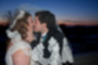 Winter Wedding, Love, Kiss, Sunset, Couples