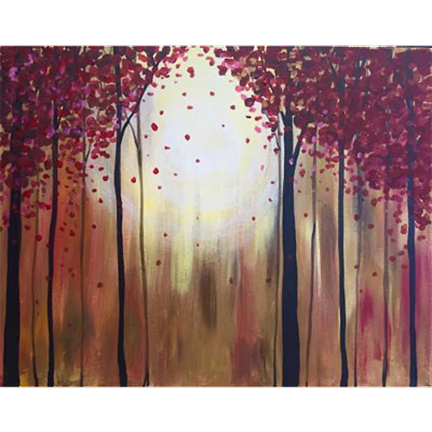 Sunlit Forest - Red