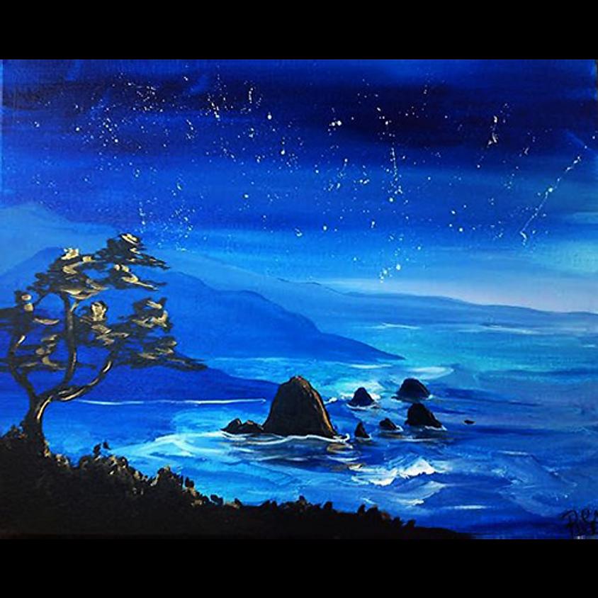 Starlit Haystack Rock