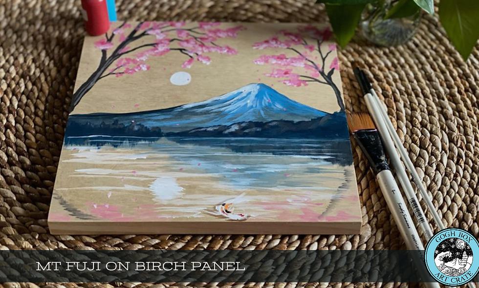Mt Fuji on Birch Panel Party Box