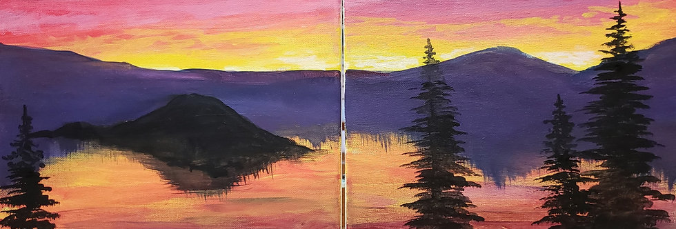 Crater Lake Date Painting