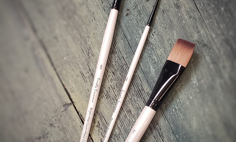 Set of 3 brushes for Acrylic / Oil