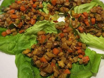 Taco de verdura oriental