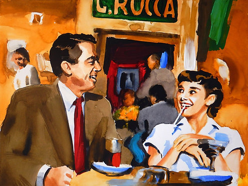 Roman Holiday- In a Cafe