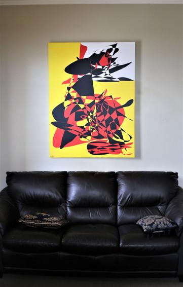 "#2. ""The Bullfighters"" by Sfanis, Acrylic on canvas, 121.5cm x 91.5cm, $1,199."