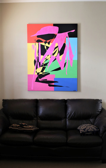 "#4. ""Boogie-Woogie"" by Sfanis. 121.5cm x 91.5cm. Acrylic on canvas. $1,199."