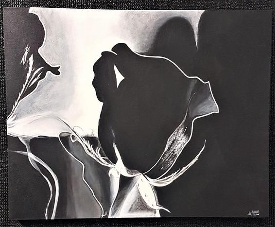 "#7. ""Velvet Beauty"", Acrylic on canvas, 41x51cm, $299."