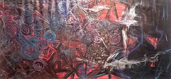 #6. Ladyrinth. Acrylic on canvas. 160cm x 77cm. $1,597.