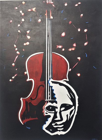 #32. The Intermezzo For Lonely Soul. Acrylic on canvas. 121.5cm x 91.5cm. $699.