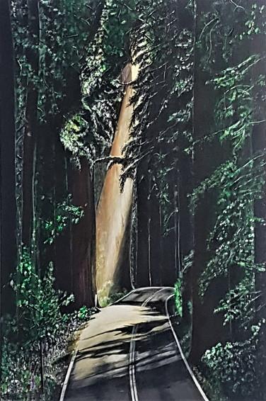 #15. A Portal into the Forest's Dreams. Acrylic on canvas. 91cm x 61cm. $500.
