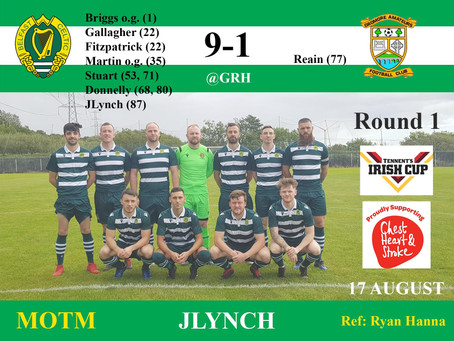 Match Result Saturday 17th August 2019    ​    ​