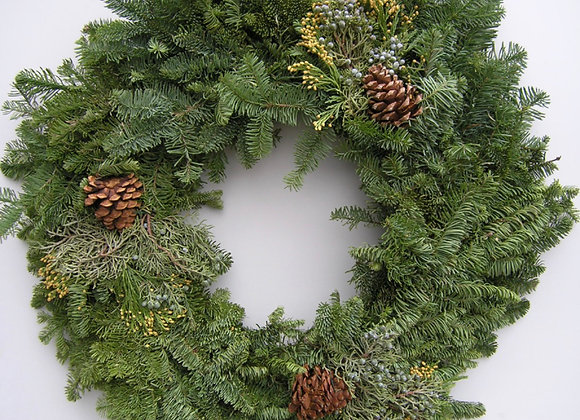 26'' Mixed Evergreen Wreath