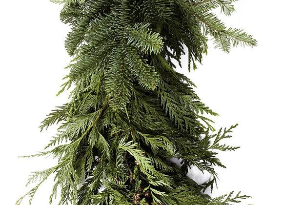 Mixed evergreen Garland - Per Foot