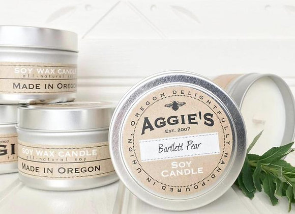 Aggie's All Natural Soy Candles - 4 oz Travel Tin