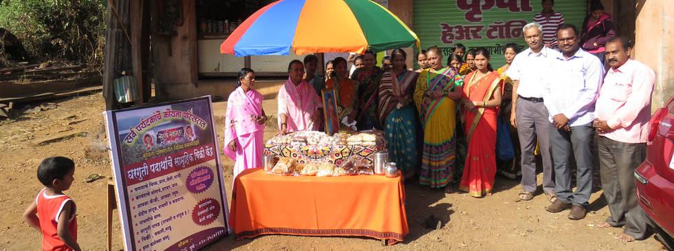 Food stall at Helwak Village