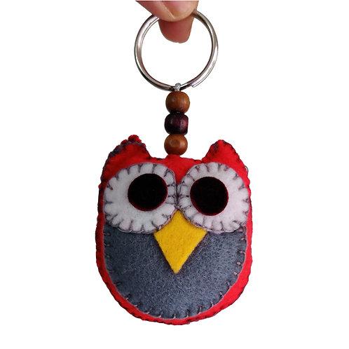 Owl Felt Keychain