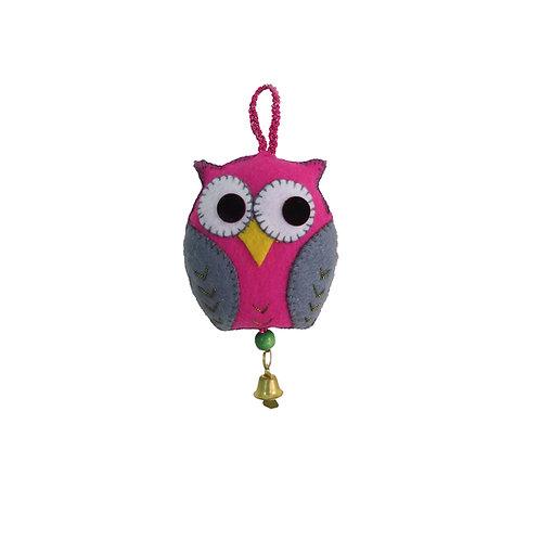 Big Owl Felt Car Hanging
